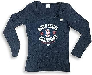 Boston Red Sox 2018 World Series Champions L/S Scoop Neck Women's T-Shirt