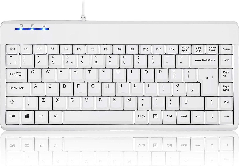 Black Perixx PERIDUO-609B Wireless 2.4 GHz Small Keyboard and Mouse Set with Multimedia Shortcut Keys QWERTY UK Layout