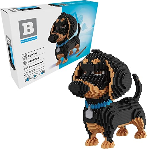 new arrival Dachshund 3D Puzzle 2100 pcs Mini Blocks Dog Building Blocks Set - Your Very new arrival Own Mini Pet Companion Nano Block Kit - 14 Years Old and new arrival Up (Dachshund) online sale