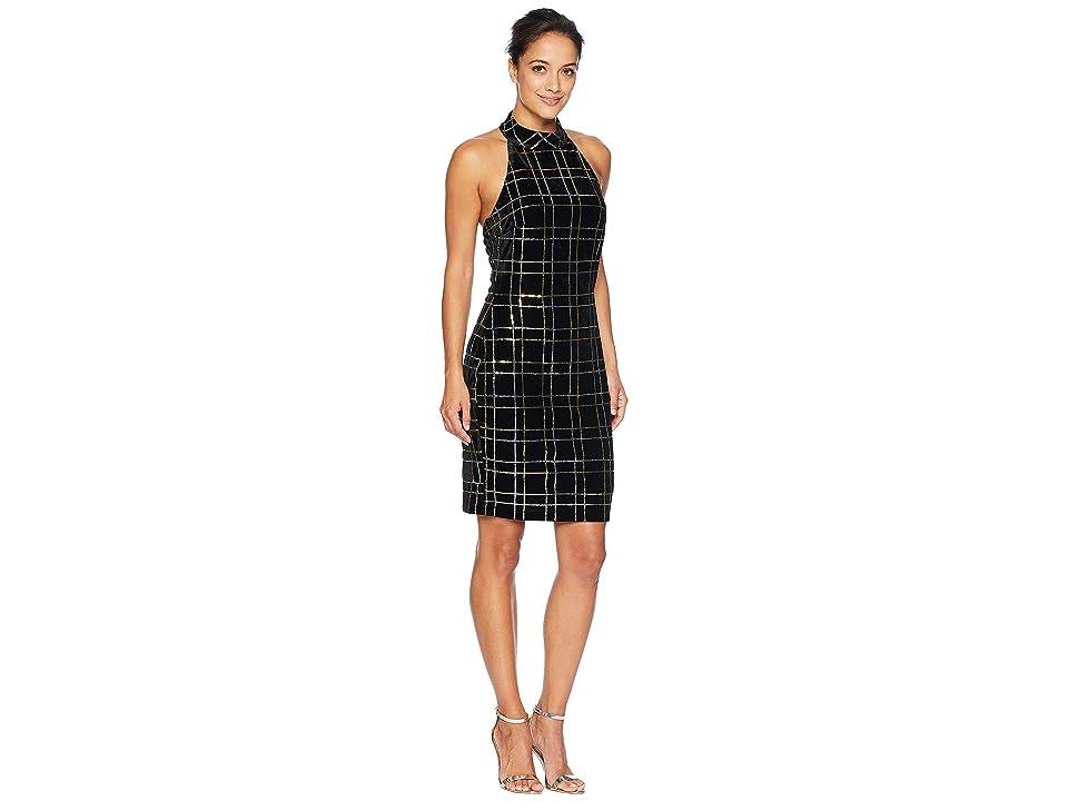 ALEXIA ADMOR Sleeveless Mock Neck Sheath Dress (Black) Women