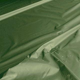 TOLKO Outdoor-Stoff Wasserdicht | Leichter Popeline NylonStoff als Meterware | für Regenjacke Plane Regenschutz Grün