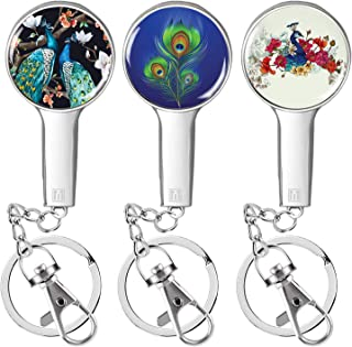 Foldable Decorative Art Purse Hooks for Tables Restaurant, Under Bar or Office Desk. Compact with Keychain Extension & Cla...