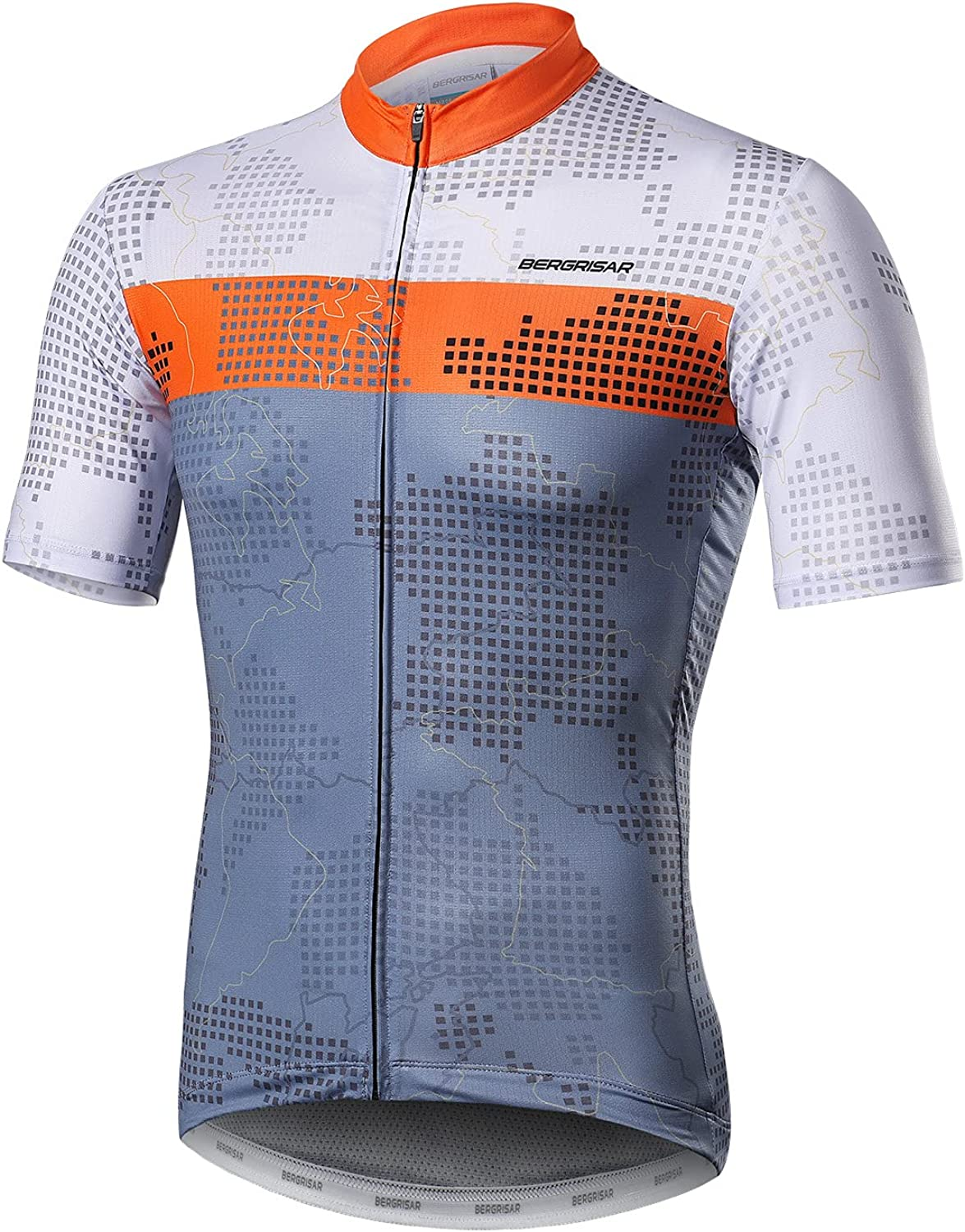 BERGRISAR Cycling Jersey Mens Bike Max 82% OFF Shirts B Short Sleeve Gorgeous Bicycle