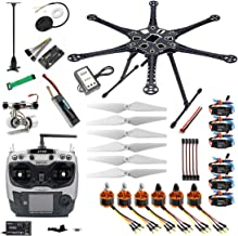 QWinOut 2.4G 9CH S550 RC Hexacopter Full Set RTF Assembled APM 2.8 GPS DIY FPV with 2-Axle Gimbal (Assembled, Without Manual)
