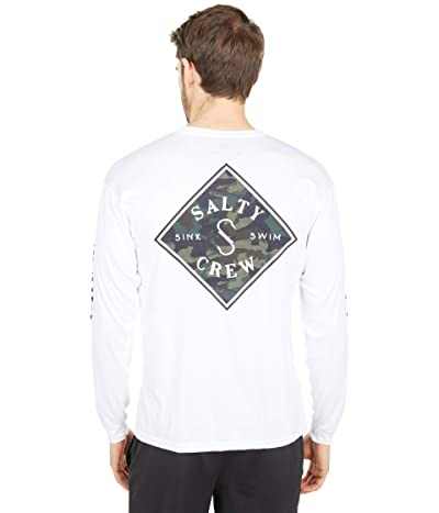 Salty Crew Tippet Decoy Long Sleeve Rashguard (White) Men
