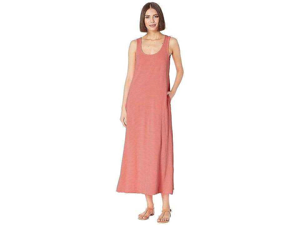 Fresh Produce Pinstripe Juliet Maxi Dress (Sunkissed Orange) Women