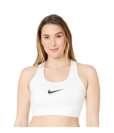 Nike Swoosh Bra (Sizes 1X-3X) (White/Black) Women