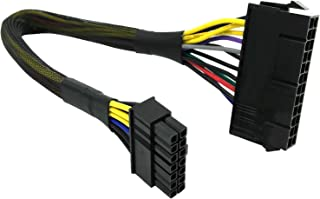 COMeap 24 Pin to 14 Pin ATX PSU Main Power Adapter Braided Sleeved Cable for IBM/Lenovo PCs and Servers 12-inch(30cm)