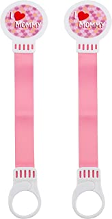 Avima Baby Pink 2 Pack Pacifier Holders with Snap Closure