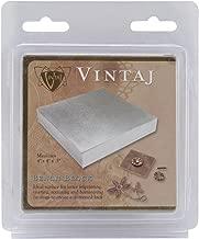 Beadsmith-Vintaj Steel Bench Block, 4 by 4 by 0.5-Inch