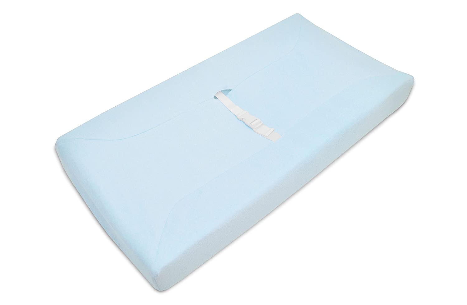 American Baby Company Cotton Terry Contoured Changing Table Cover, Blue (Older Version) (Discontinued by Manufacturer)