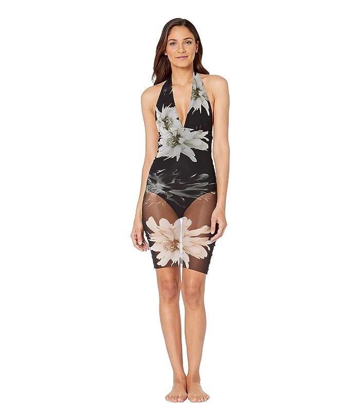 FUZZI One-Piece Tankini Fractured Flower Swimsuit (Nero) Women