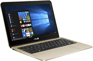 Asus VivoBook Flip TP203MAH-BP024T 2-in-1 Laptop - Intel Celeron N4000, 11.6-Inch Touch, 1TB, 4GB, Eng-Arb-KB, Windows 10, Gold