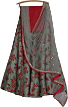 REKHA Ethinc Shop Embroidered Work Indian Bollywood Designer Lehenga Choli Ethnic Look Women Semi-Stitched Lehenga Choli A...