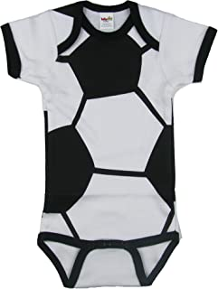 Unisex Baby Soccer Short Sleeve Creeper