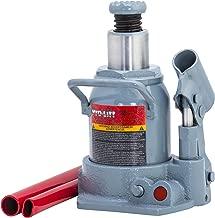 Pro-LifT B-S12D Grey Hydraulic Bottle Jack - 12 Ton Capacity