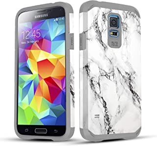 Townshop Galaxy S5 Case, Marble Design Hard Impact Dual Layer Shockproof Bumper Case for Samsung Galaxy S5 (I9600)