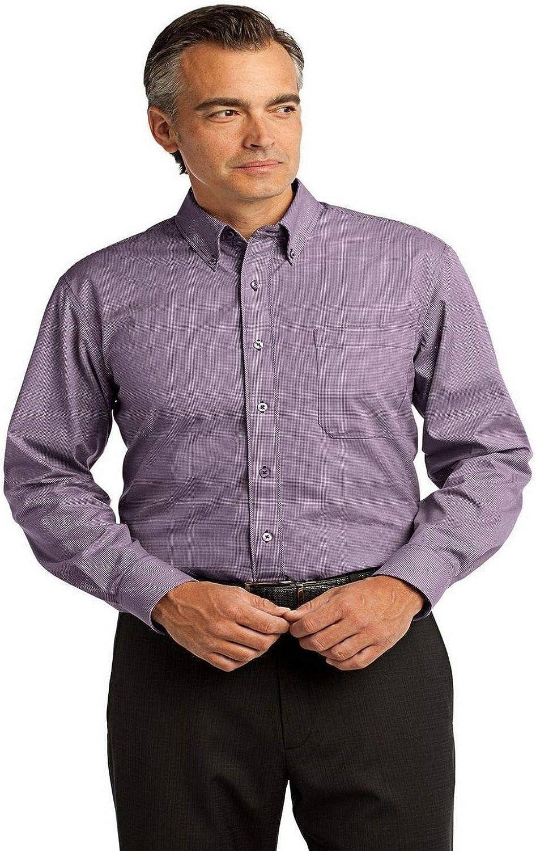 Red House Men's Mini Check Non Iron Button Down Shirt