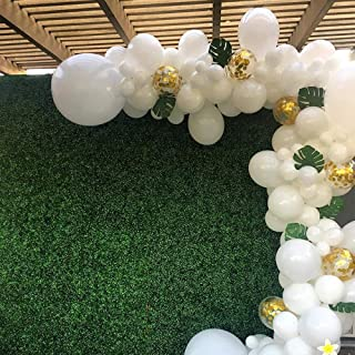 White Latex Balloons with Gold Confetti Balloons Pack of 100,for Wedding Birthday Party Baby Shower Decoration