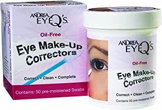 Andrea Eyeq's Oil-free Eye Make-up Correctors Pre-moistened Swabs, 50-Count (Pack of 3)