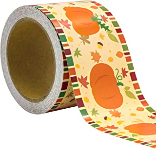Pumpkin Bulletin Board Border Straight Trim for Thanksgiving Classroom Party Decoration 36ft One Roll