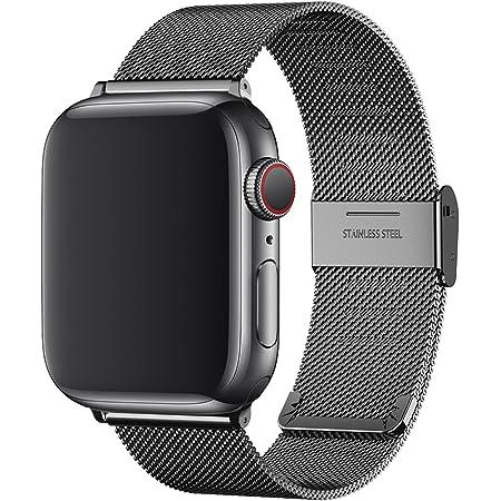 YHC Correa para Apple Watch 38mm 40mm 42mm 44mm,Pulsera de Acero Inoxidable Compatible con iWatch 6 SE 5 4 3 2 1 (40mm/38mm, Negro)