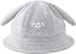 pureborn Newborn Baby Boy Girl Cartoon Sheep Sun Hat Cotton Wide Brim Bucket Hat