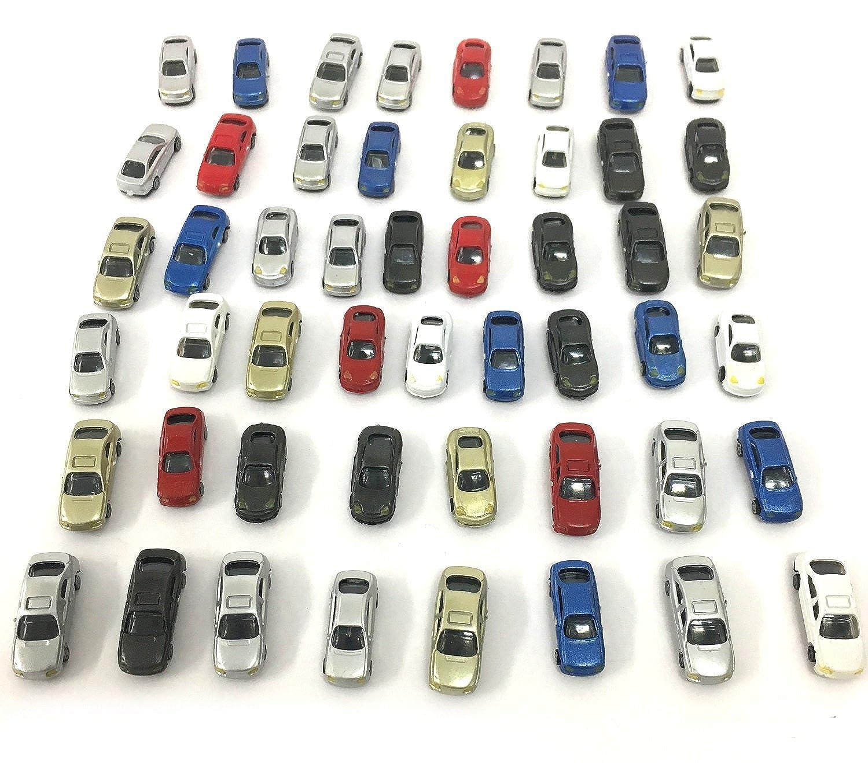 【Angelicate】自動車 セット ジオラマ 情景 模型 ミニカー 選べる スケール (1/200スケール, 50台)