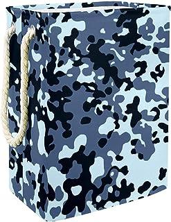 Vockgeng Bleu Noir Camouflage Accueil Organisation Panier de Rangement imperméable Pliable de Jouets de Jouets de Panier a...