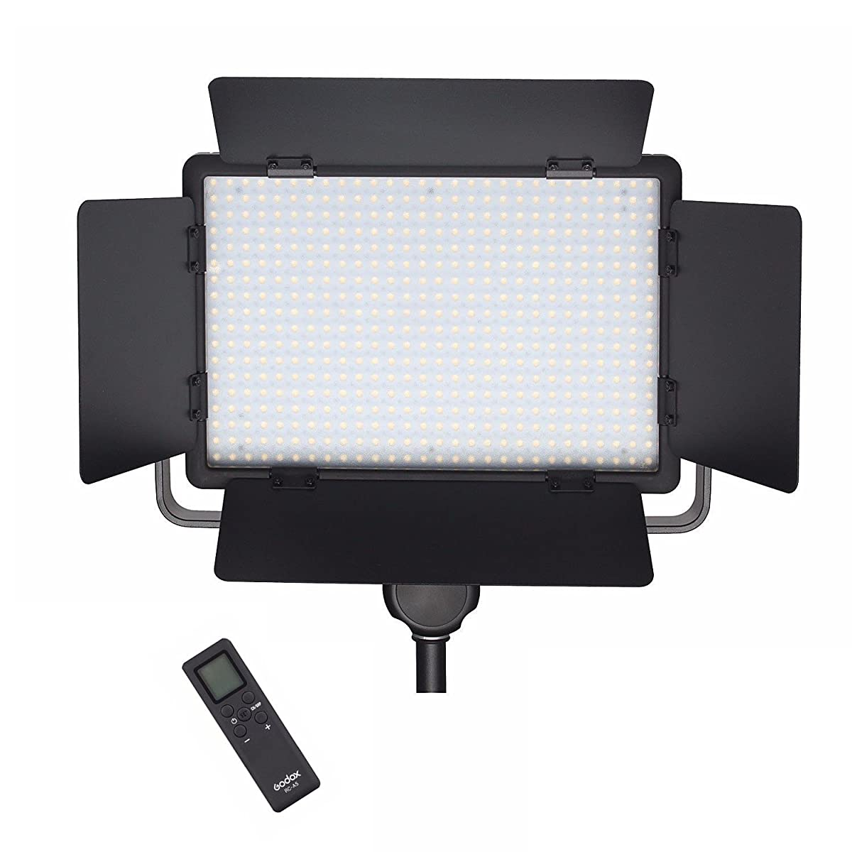 Godox LED500W(AC&DC) 5600K Studio LED Video Light Panel w/ Remote For Camera Camcorder with WINGONEER Diffuser