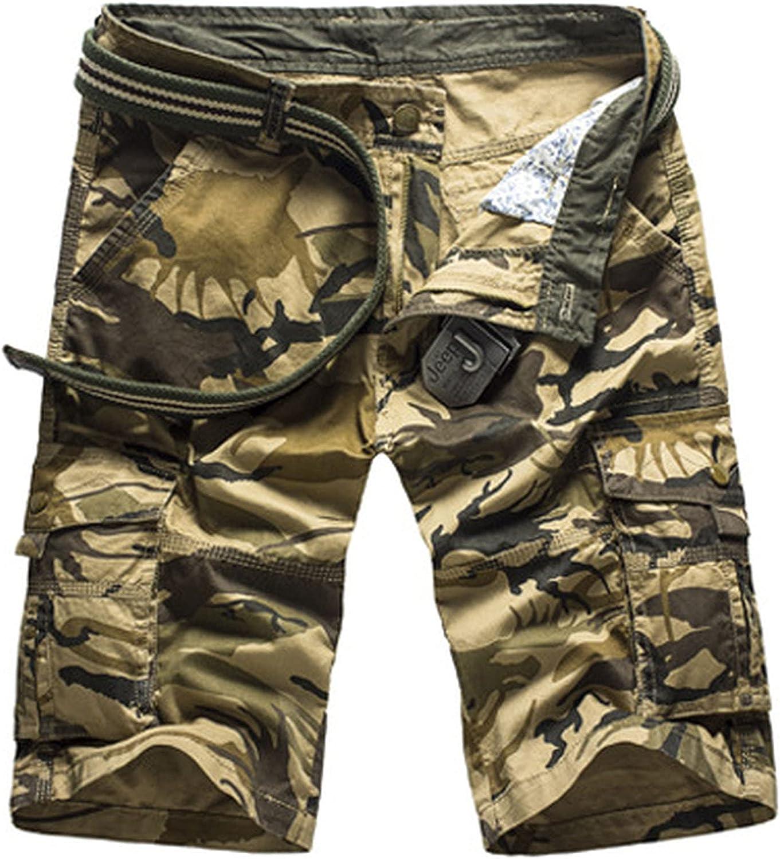 B dressy Camouflage Camo Cargo Shorts Men New Casual Loose Work Man Military Short Pants Plus Size 29-44-KhakiCamo-31