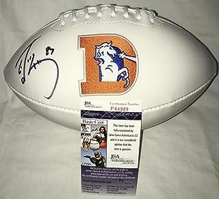 Don King (Denver Broncos) Autographed Ball - Ed McCaffrey Throwback Logo Certified - JSA Certified - Autographed Footballs