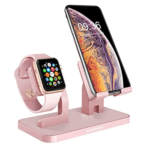 BENTOBEN Cell Phone Stand Compatible with Apple Watch iPhone Android Phone iPad Tablet, Charging Dock