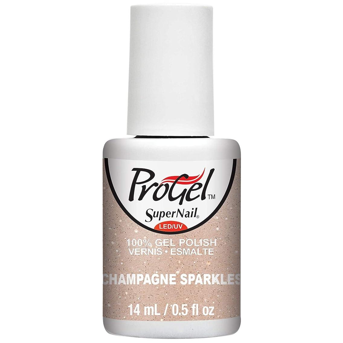 フローティングコンテスト戸口SuperNail ProGel Gel Polish - Champagne Sparkles - 0.5oz / 14ml