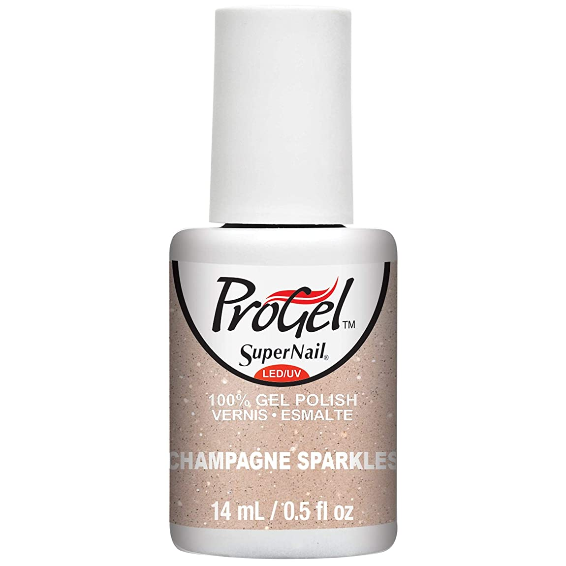 二次青写真はがきSuperNail ProGel Gel Polish - Champagne Sparkles - 0.5oz / 14ml