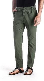 MUSE FATH Men's Linen Drawstring Casual Beach Pants-Lightweight Summer Trousers