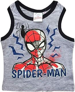 Completo 2pz Cotone Bambino Spiderman Blu Scelta Taglia 3 o 7 Anni