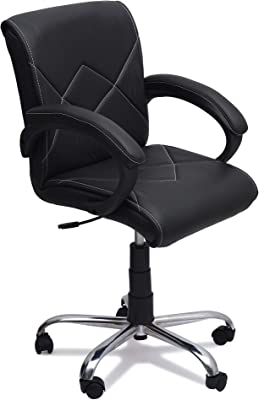 DZYN Furnitures Cross Low Back Standard Office Executive Chair (Black)