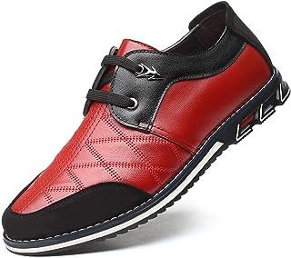 Zapatos Hombre Invierno Planos Mocasines Zapatos de Cuero Casual Fur Forro Cálido Botines Senderismo Trekking Aire Libre B...