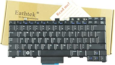 Eathtek Replacement Keyboard with BIG ENTER without Pointer and Mouse Buttons for Dell Latitude E5400 E5410 E5500 E5510 E5300 E5310 series Black US Layout, Compatible with part# 0MDGKC NSK-DBB0N