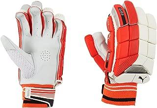 Puma, Cricket, Evo 3 Batting Gloves, Fiery Coral/White, Right Hand
