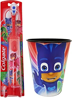 PJ Masks Owlette Toothbrush Dental Kit: 2 Items - Powered Toothbrush, Kid's Character Rinse Cup