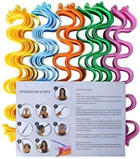 30 Pcs Hair Curlers Spiral Curl Styling Kit,Wave Curl Formers For Natural Hair,Heatless Hair Rollers With 2 Pcs Styling Ho...
