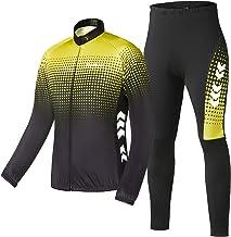 TOM SHOO Fietsjas voor heren, set fietskleding, fietsshirt met lange mouwen, winddicht, MTB-jack, fietsjack, thermische fl...