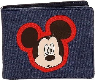 Disney Mickey Parches Portefeuille Bleu 10,5x9x2 cms Cuir synthétique
