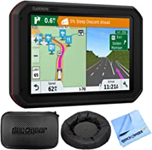 Garmin dezlCam 785 LMT-S GPS Truck Navigator with Built-in Dash Cam (010-01856-00) with Accessories Bundle Includes, Universal GPS Navigation Dash-Mount, Hard EVA Case, and More