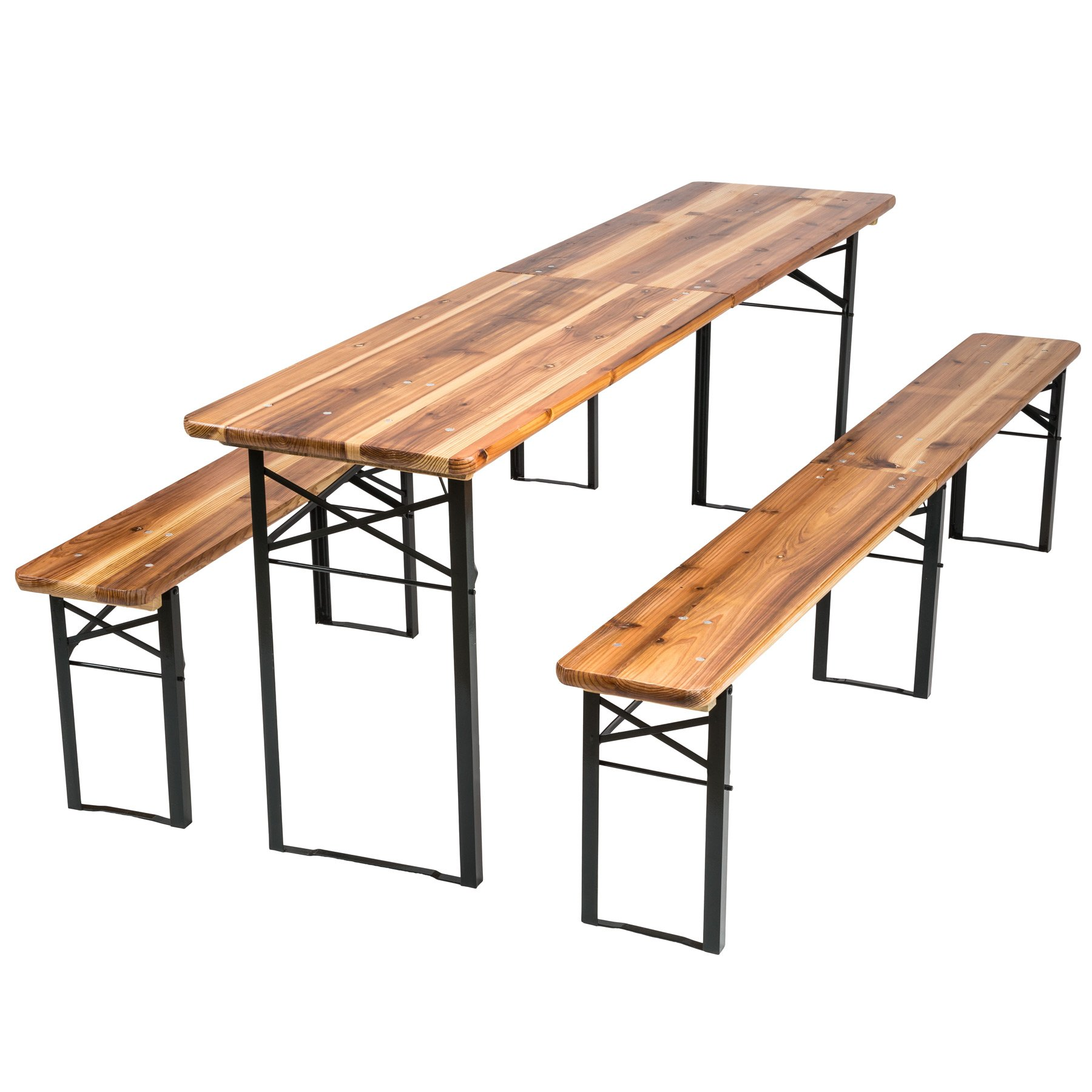 TecTake Conjunto de mesa y bancos de jardín y sillas de terraza muebles cervecería - varios modelos- (Tipo 3 | no. 402189): Amazon.es: Jardín