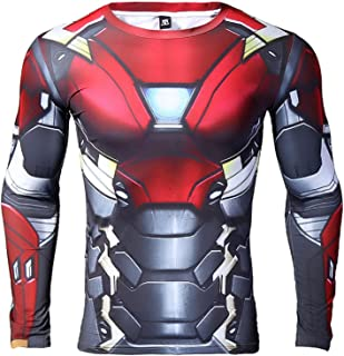 Iron Man Compression Shirt for Men's Gym Tops Cosplay Tees