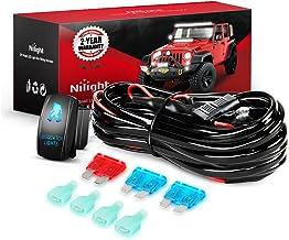 Nilight NI -WA 07 LED Light Bar Wiring Harness Kit SASQUATCH LIGHTS 12V 5Pin Rocker Switch Laser On off Waterproof Switch ...