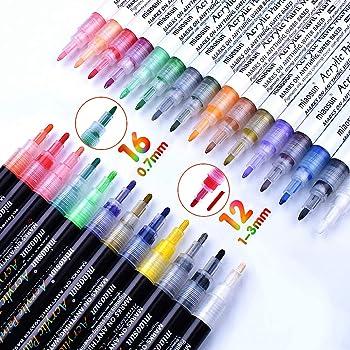 Acrylfarbe metallic Marker Malerei Stift für Fotoalbum Weihnachtskarten machen